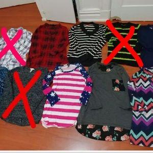Huge juniors XS clothing bundle lot mixed combo